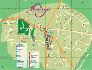 Plan messanges centre plans de messanges notre village messanges ville de messanges - Office de tourisme messanges ...
